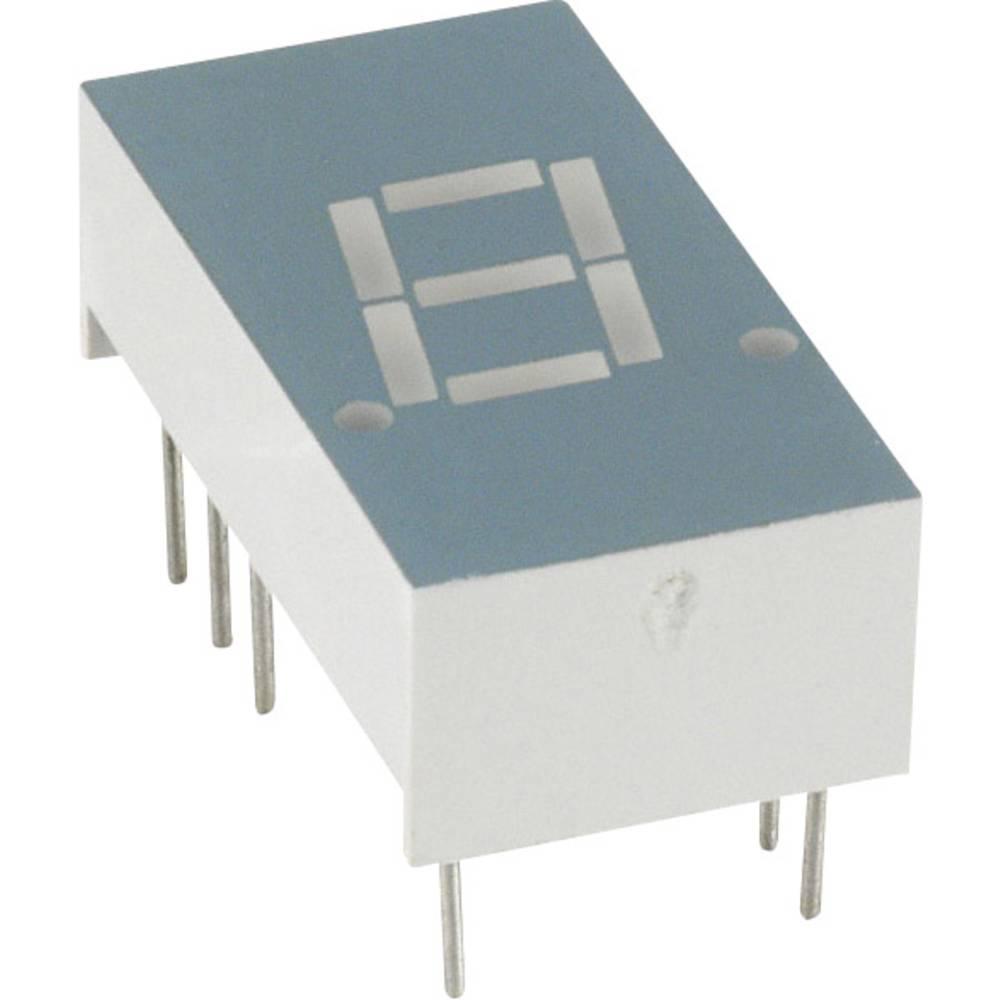 7-Segment-Anzeige (value.1317366) LUMEX 7.8 mm 2 V Rød