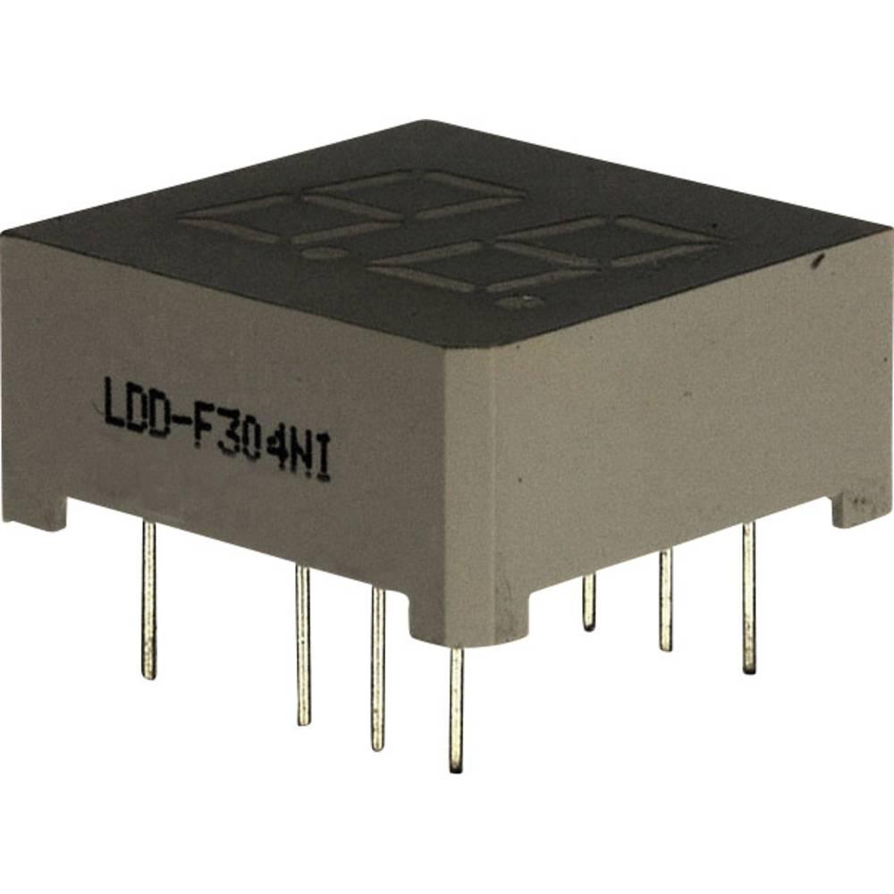 7-segmentsvisning LUMEX 7.62 mm 2 V Rød