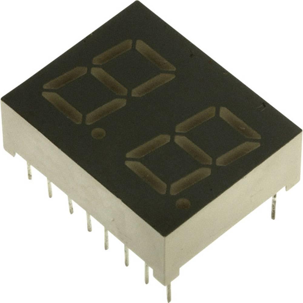 7-segmentsvisning LUMEX 10.2 mm 2.1 V Gul