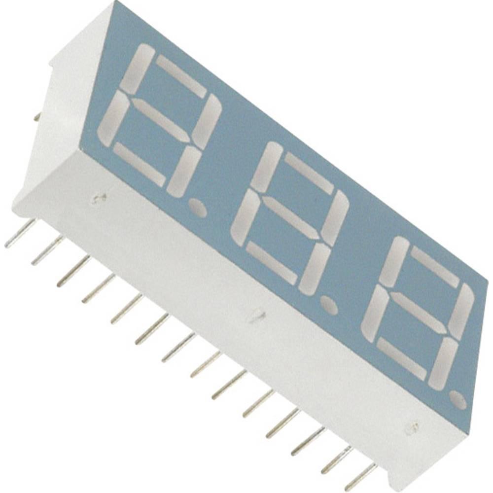 7-segmentsvisning LUMEX 14.22 mm 2.2 V Grøn
