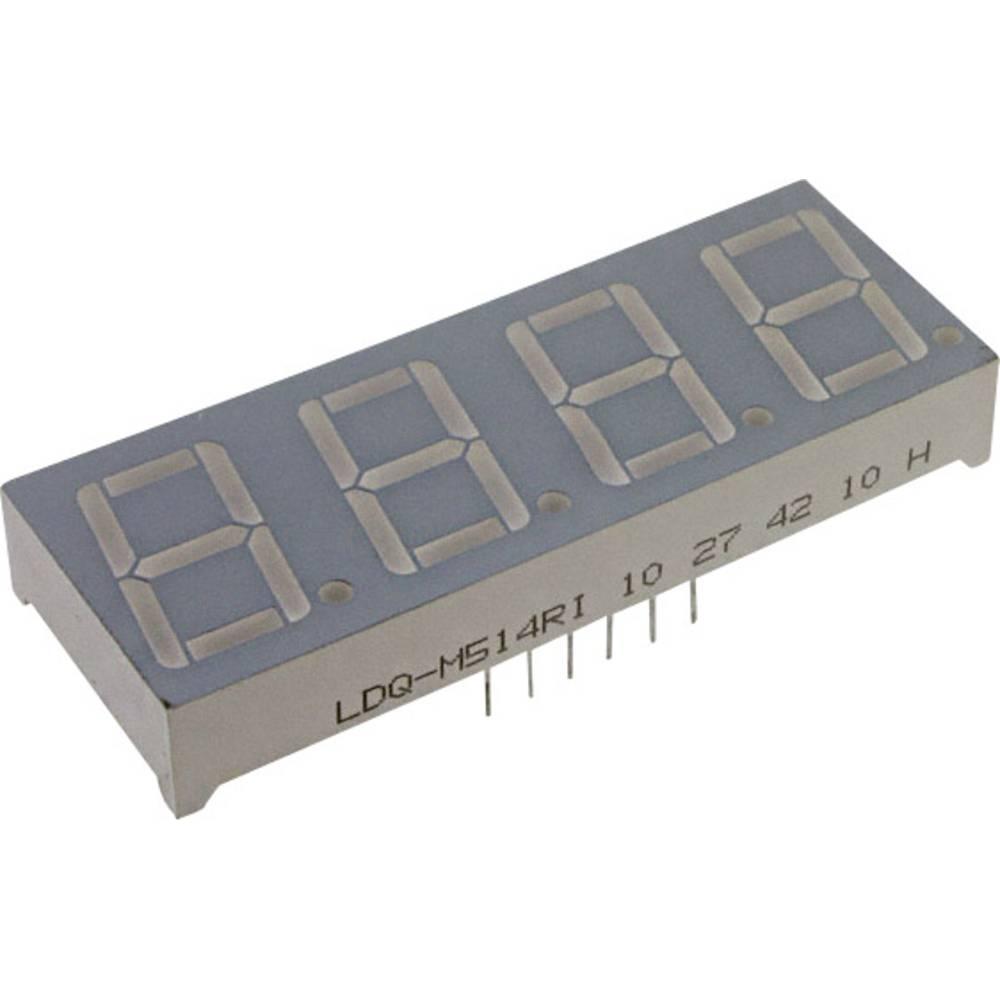 7-Segment-Anzeige (value.1317366) LUMEX 7 mm 1.8 V Rød