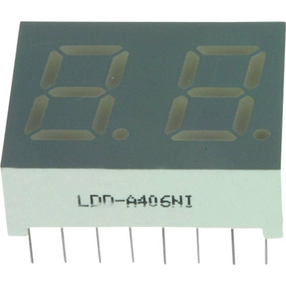 7-Segment-Anzeige (value.1317366) LUMEX 10.2 mm 1.7 V Rød