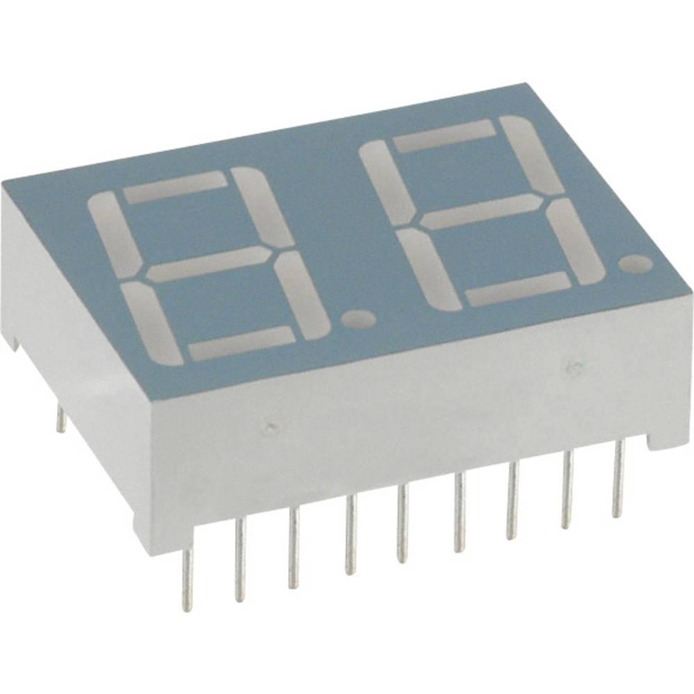 7-Segment-Anzeige (value.1317366) LUMEX 14.2 mm 2.1 V Gul