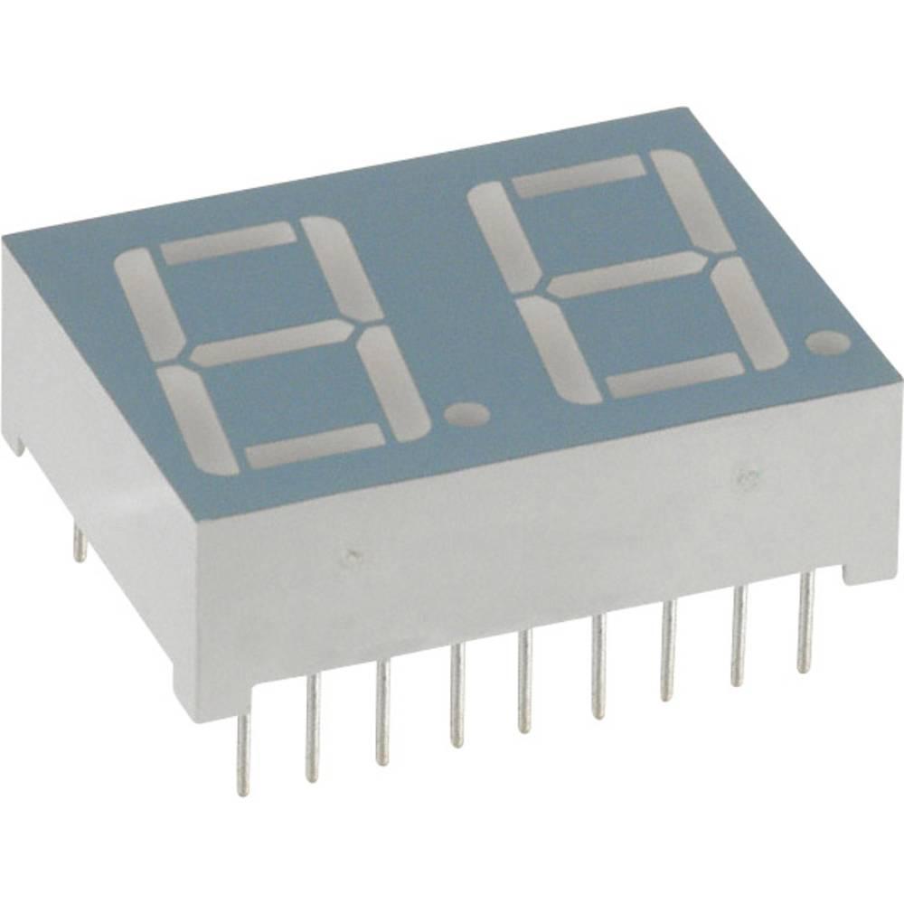 7-Segment-Anzeige (value.1317366) LUMEX 14.22 mm 1.8 V Rød