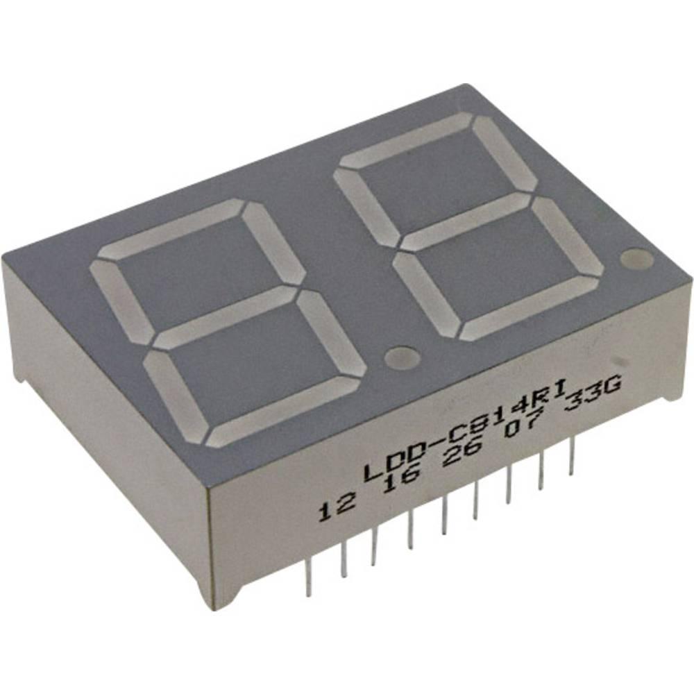 7-segmentsvisning LUMEX 20.3 mm 2 V Rød