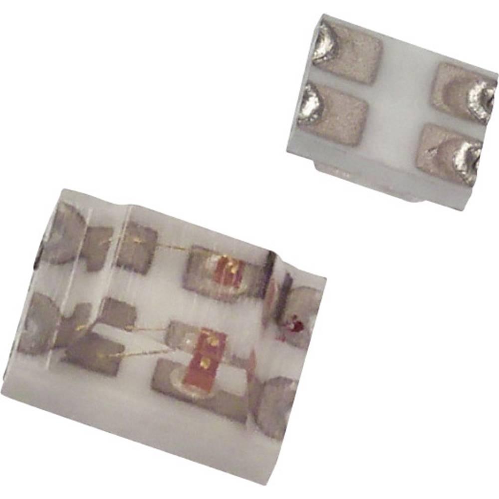 SMD LED Dialight 597-7721-107F SMD-4 12 mcd, 8 mcd 170 ° Grøn, Gul