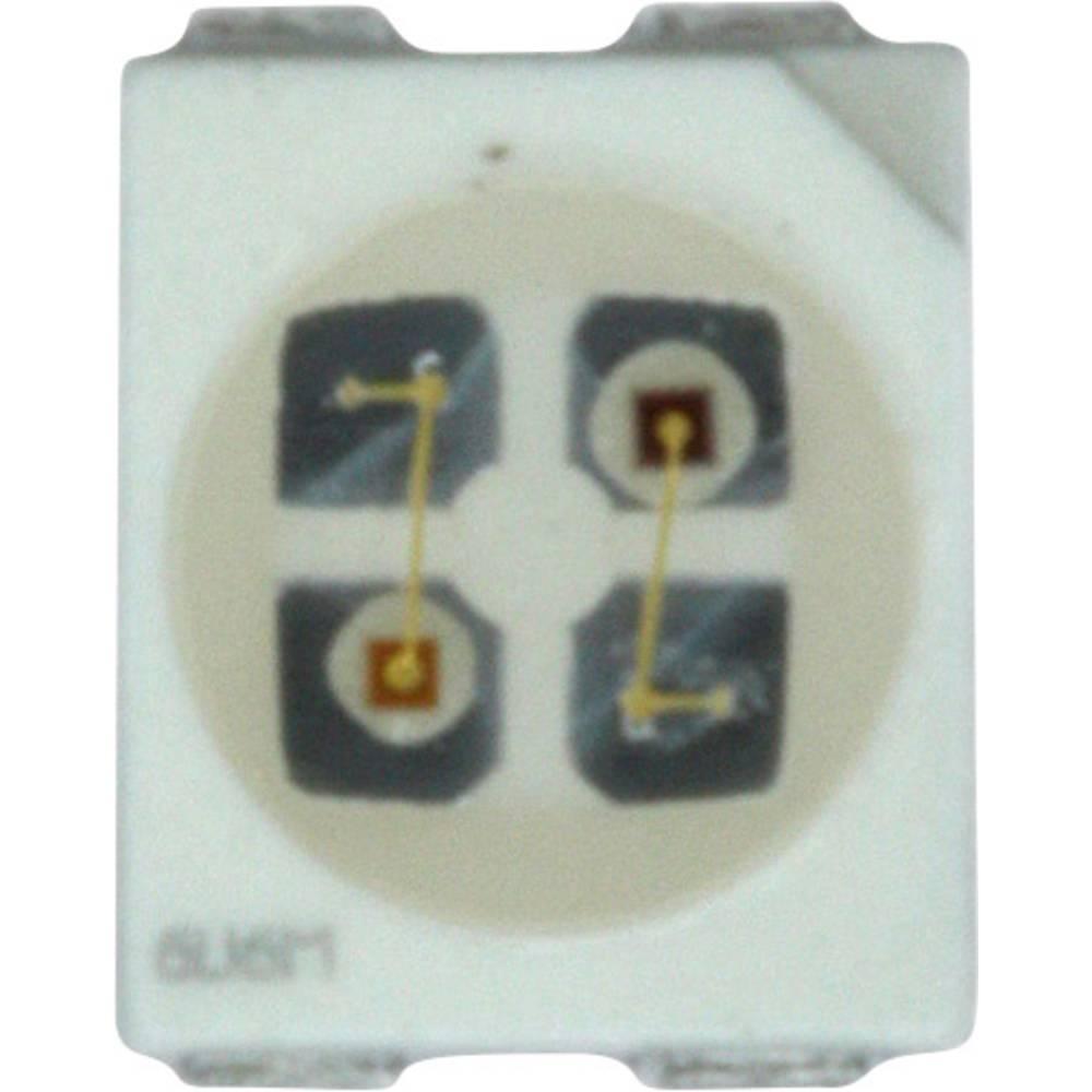 SMD-LED (value.1317393) Dialight 597-7701-207F PLCC4 16 mcd 120 ° Grøn, Rød