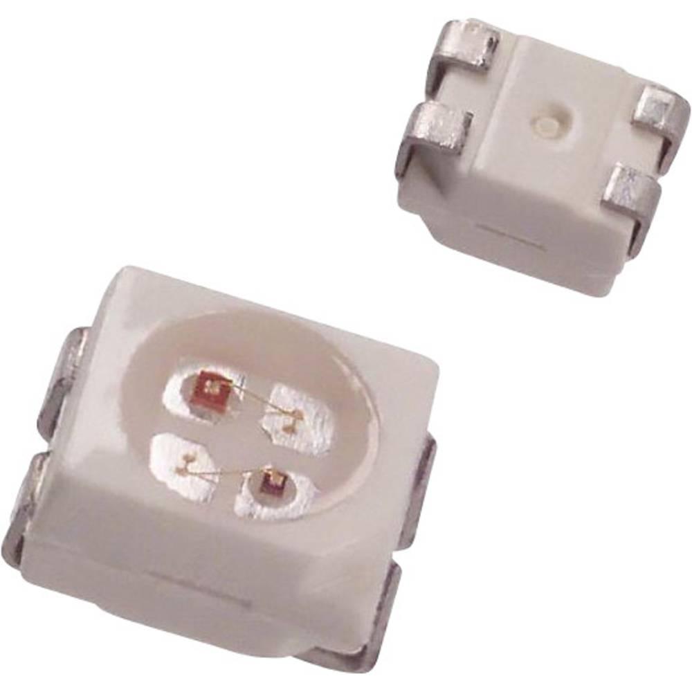 SMD-LED (value.1317393) Dialight 597-7731-207F PLCC4 7.3 mcd, 6.8 mcd 120 ° Rød, Gul