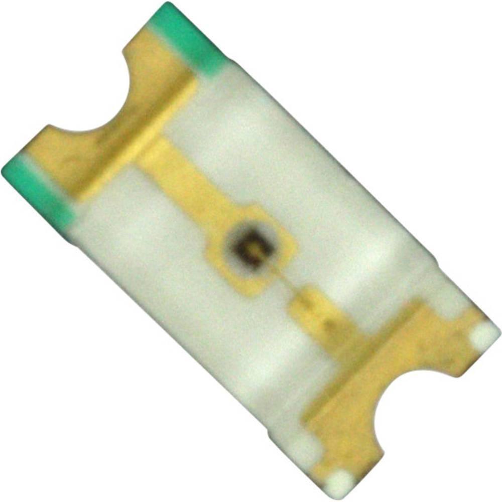 SMD-LED (value.1317393) Dialight 598-8250-107F 3216 130 mcd 140 ° Gul