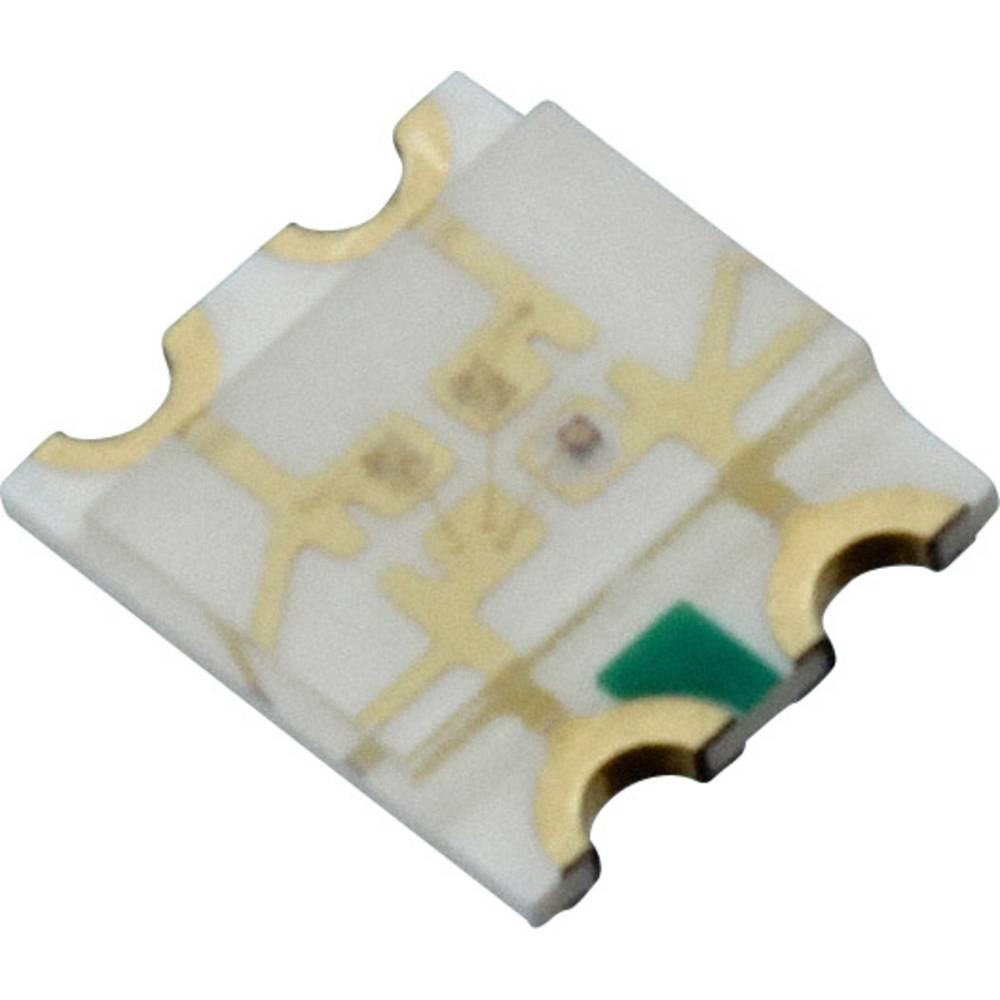 SMD-LED (value.1317393) Dialight 598-8610-307F 3225 60 mcd, 120 mcd, 90 mcd 140 ° Rød, Grøn, Blå