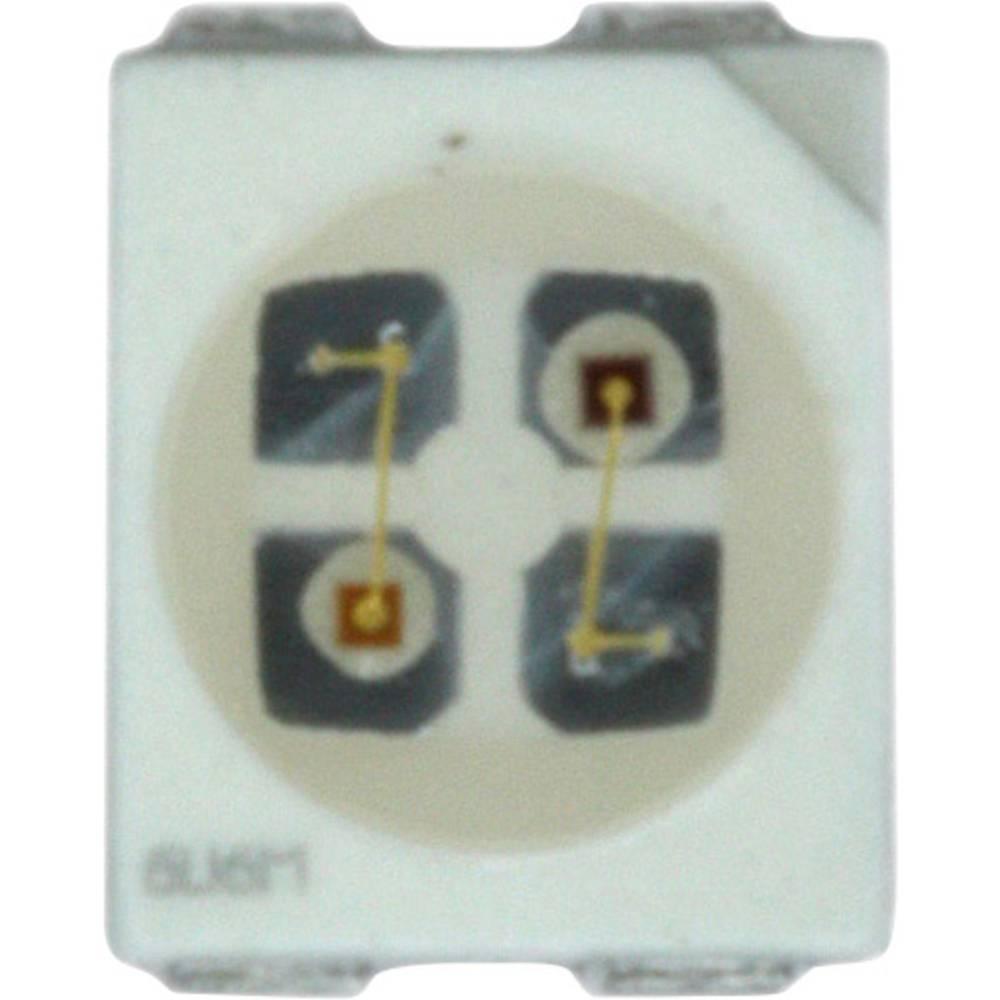 SMD LED Dialight 597-7701 -202F PLCC4 16 mcd 120 ° Grøn, Rød