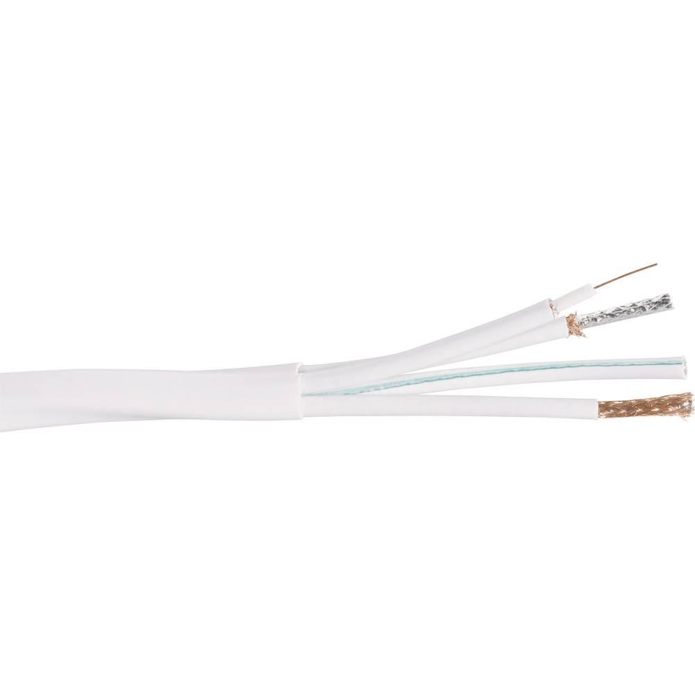 Koaksjialni kabel vanjski promjer: 13 mm 75 90 dB bijele boje Conrad Components AC400 25 m