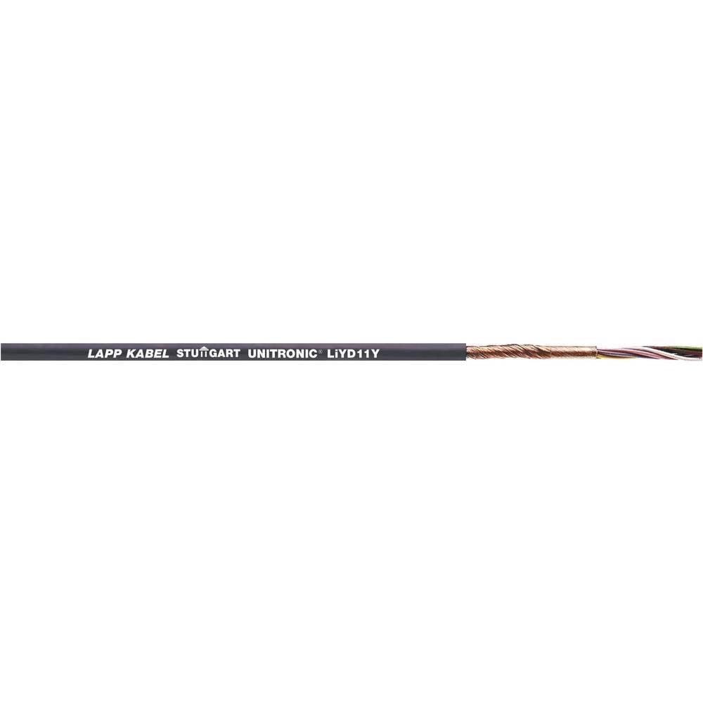 Podatkovni kabel UNITRONIC® LiYD11Y 2 x 0.25 mm črne barve LappKabel 0033302 100 m