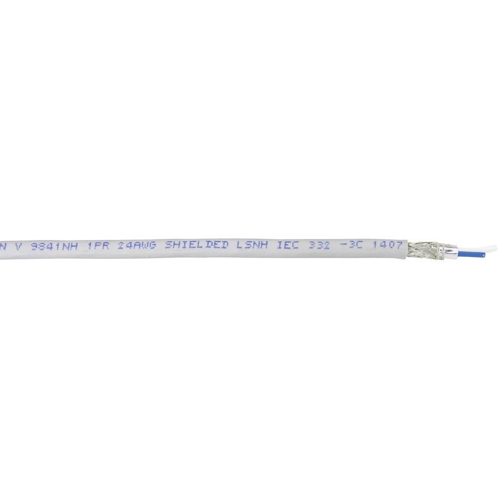 Busledning Belden 9841 1 x 2 x 0.20 mm² Grå Metervare