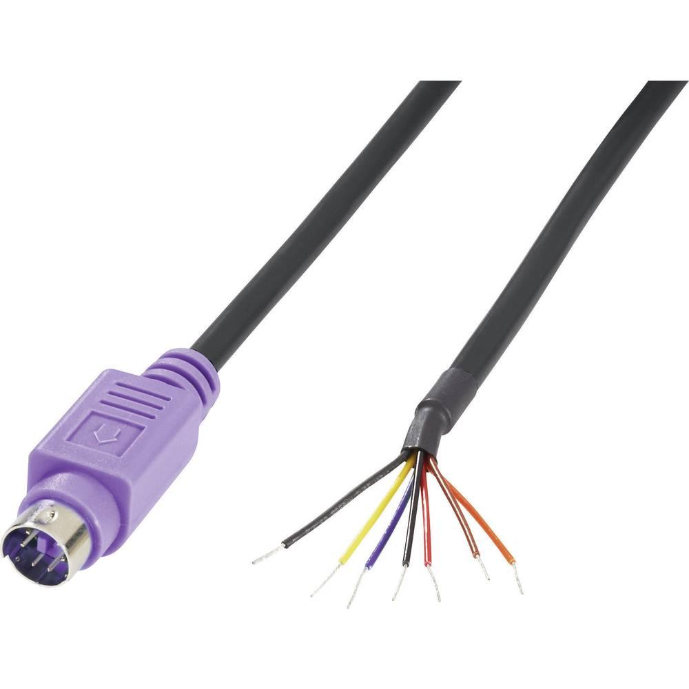 Mini priključni kabel DIN Število polov=6 Vtič, raven 204097 BKL Electronic