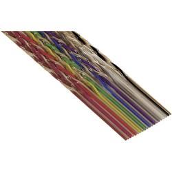 Pljosnati kabel dimenzije: 1.27 mm 10 x 0.08 mm šaren 3M 80-6107-0755-8 metarski