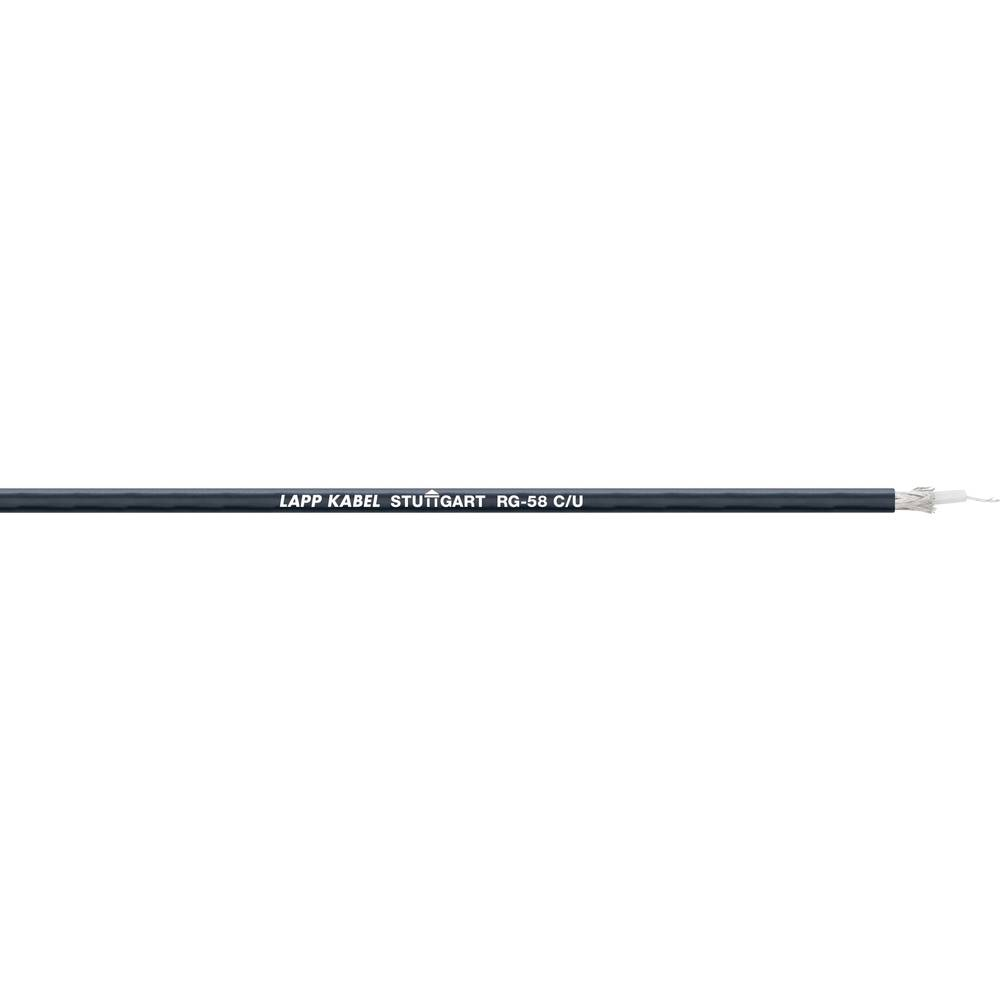 Koaksialni kabel zunanji premer: 4.95 mm RG58 C/U 50 črne barve LappKabel 2170000 meterski