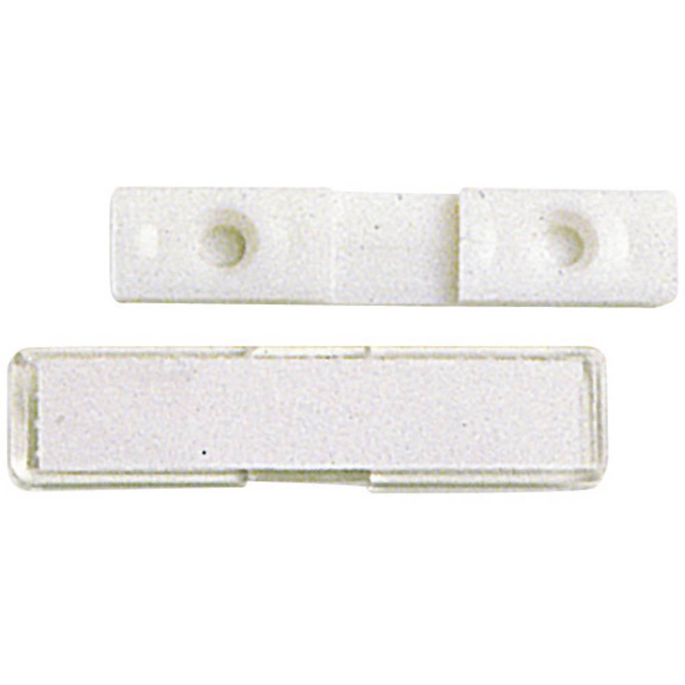 Oznake za kable, montaža: na kabelske vezice, z vijaki, z lepljenjem, površina: 52 x 12 mm bele barve, transparentne barvene bar