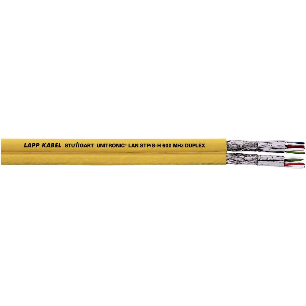 Omrežni kabel CAT 7 S/FTP 4 x 2 x 0.25 mm rumene barve LappKabel 2170634 metrsko blago