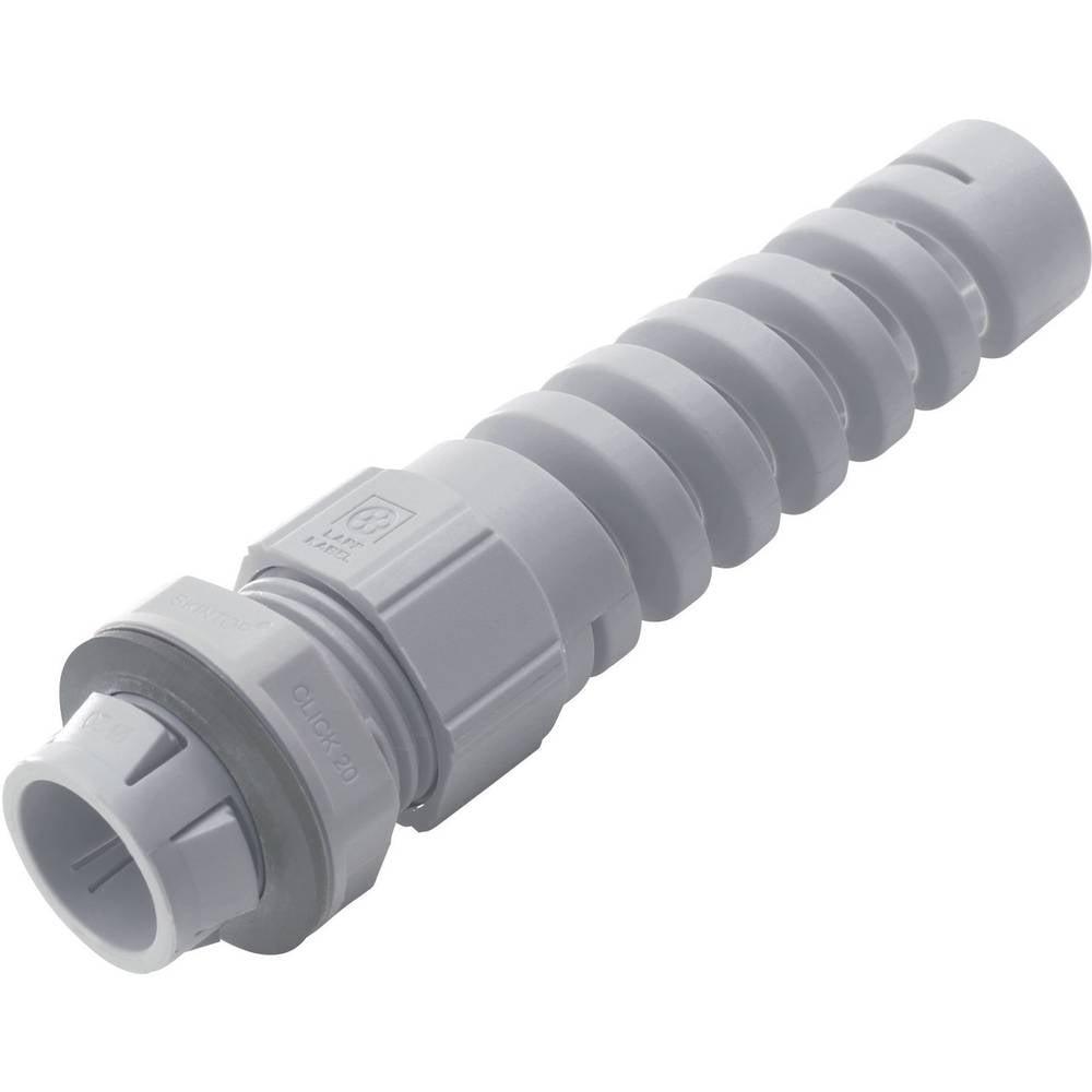 Kabelska uvodnica z zaščito pred upogibanjem M20 poliamid, svetlo sive barve (RAL 7035) LappKabel SKINTOP® CLICK BS M20 GY 1