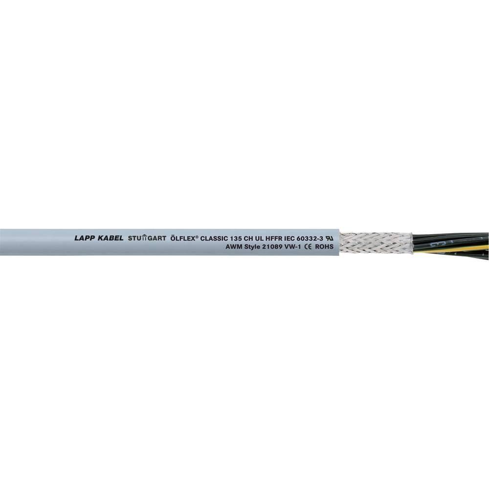 Krmilni kabel ÖLFLEX® CLASSIC 135 CH 5 G 1.5 mm sive barve LappKabel 1123311 100 m