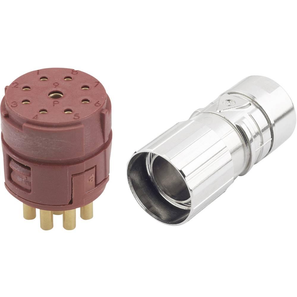 EPIC® konektor M23 8+1polni v kompletu EPIC® KIT M23 D6 8+1-POL FEMELLE LappKabel vsebina: 1 komplet