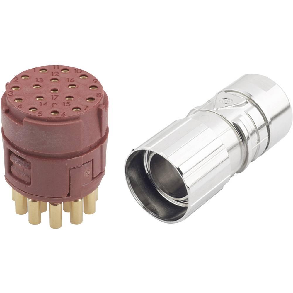 EPIC® konektor M23 17polni v kompletu EPIC® KIT M23 D6 17-POL FEMALE LappKabel vsebina: 1 komplet