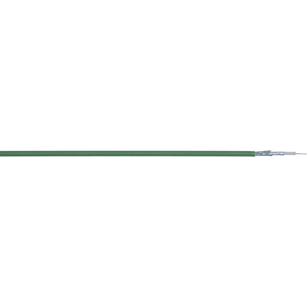 Koaksialni kabel zunanji premer: 5.9 mm UNITRONIC® Koaksialni kabel 75 dB zelene barve LappKabel 3034037 meterski