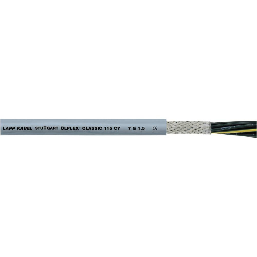 Krmilni kabel ÖLFLEX® CLASSIC 115 CY 4 G 1.5 mm sive barve LappKabel 1136304 50 m