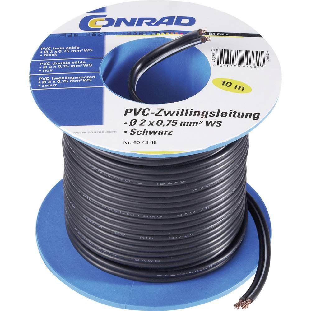 Dvožilni kabel iz PVC-ja, H03VH-H, zapakirani SH1465 Conrad