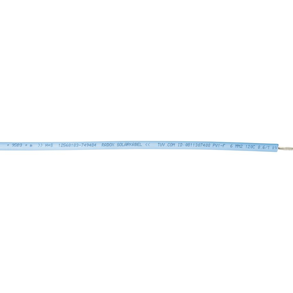 Huber & Suhner-RADOX® 125-Solarni kabel, 1x4mmË>, crven, metarska roba 12545801