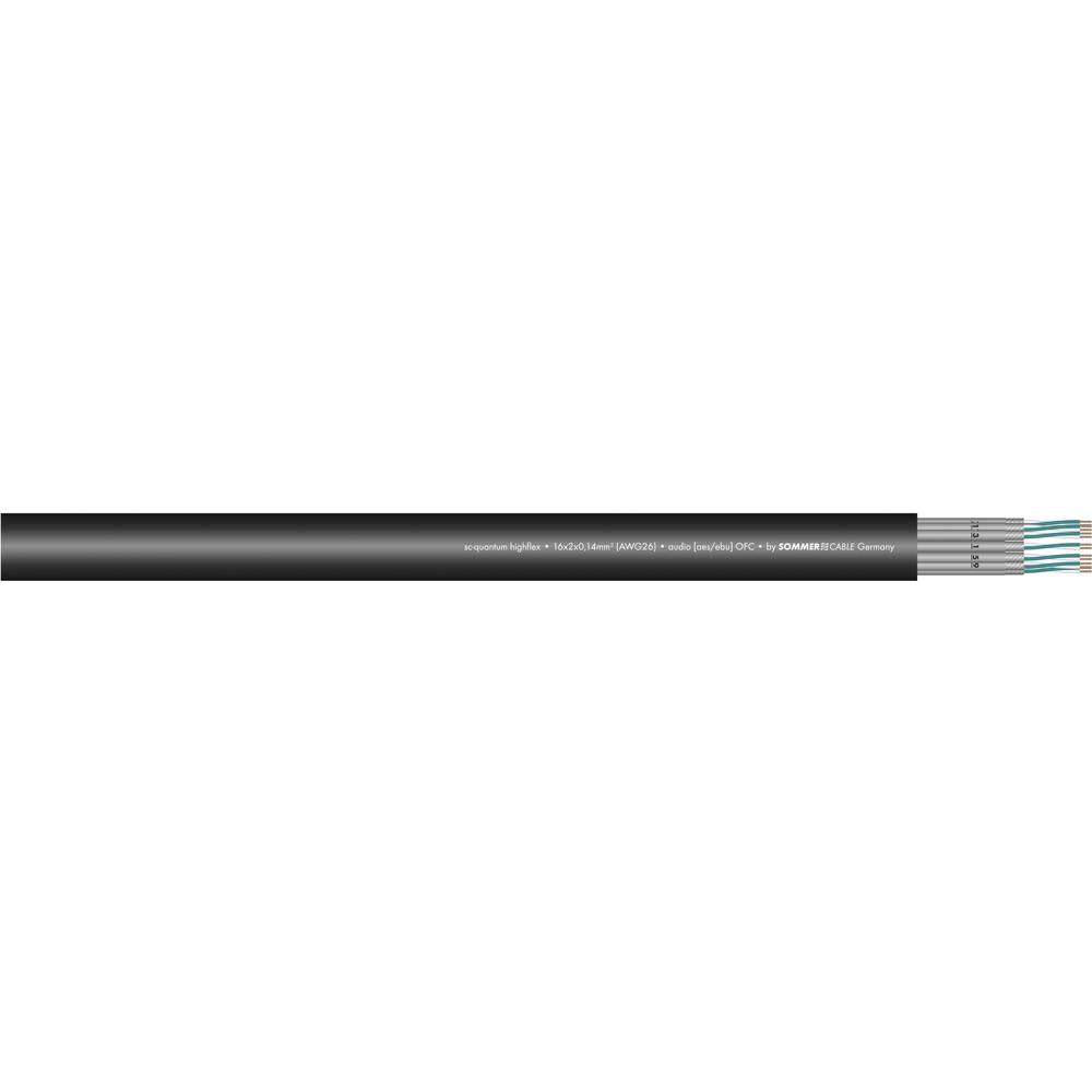 Sommer Cable-''SC-QUANTUM HIGHFLEX QMC''-Višežilni kabel za pozornicu, 4x2x0.14mmË>, crn, metarska roba 100-0451-04