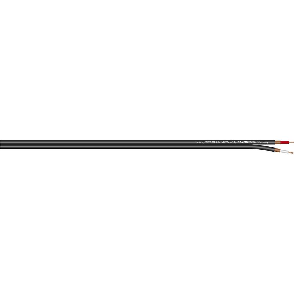 Kabel za glasbila in patch kabel Sommer Cable SC-ONYX, 2 x 1x 0,25 mm2, moder, metr. bl. 320-0102