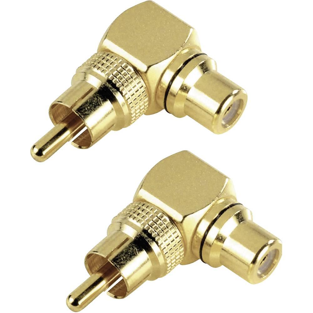 Činč avdio adapter Hama [1x činč-vtič - 1x činč-vtičnica], zlate barve