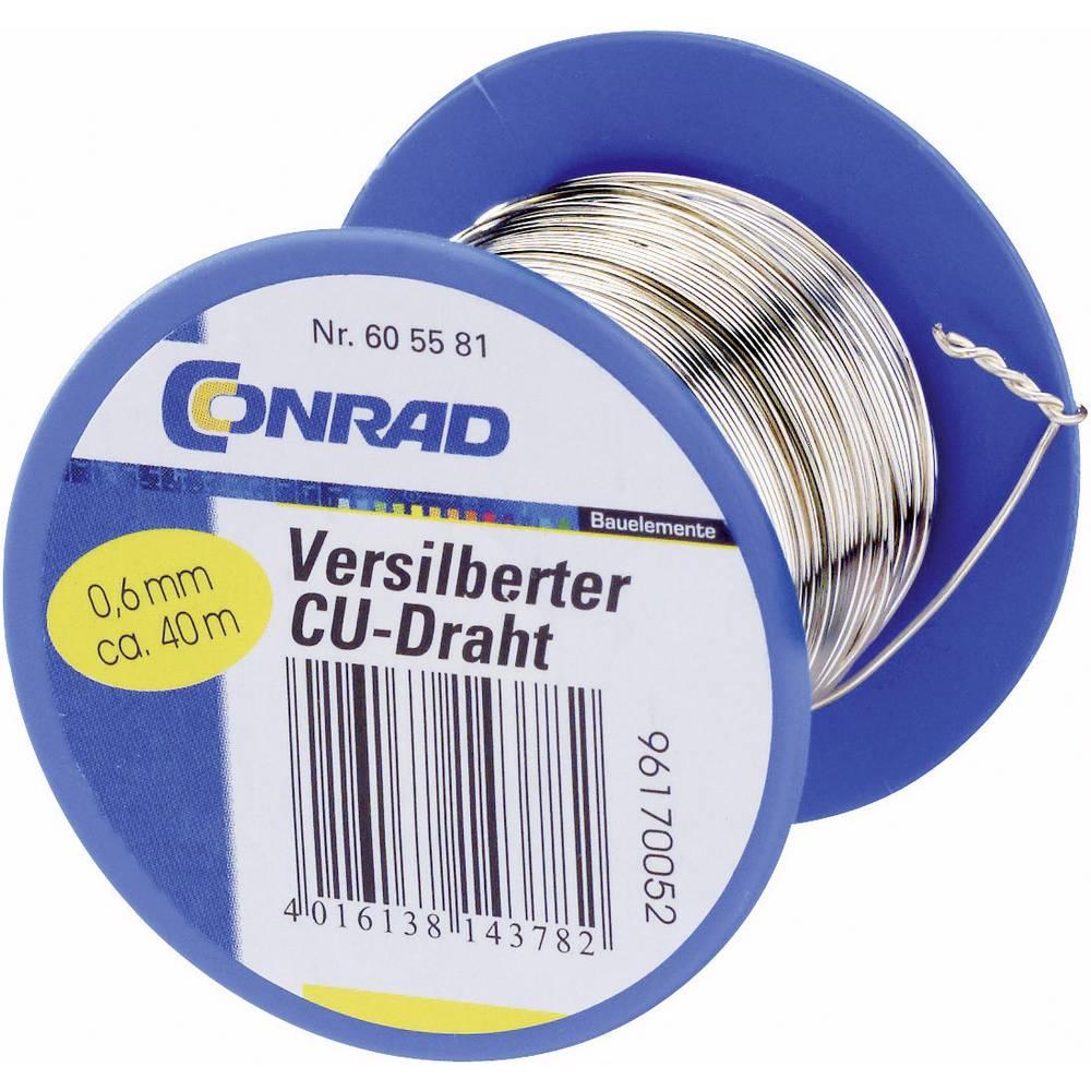 Bakrena žica zunanji premer (brez izolacijskega laka)=1 mm 50 m Conrad Components