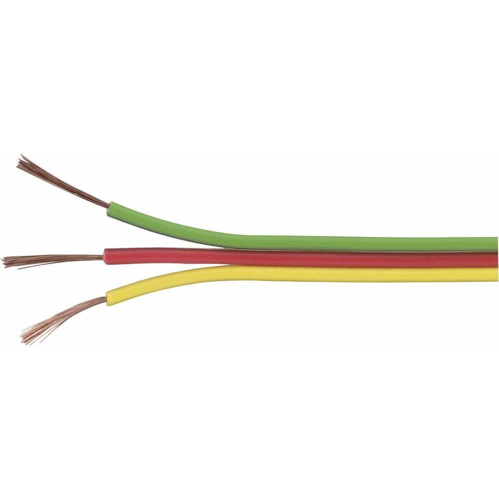 Prepleteni vod trožilni 93014c453 Conrad 3 x 0.14 mm žuta, crvena, zelena 25 m