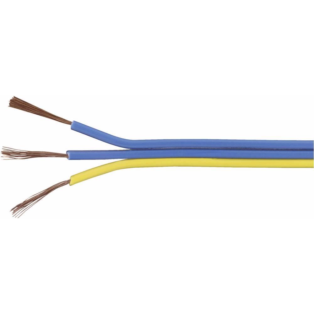 Prepleteni vod trožilni 93014c450 Conrad 3 x 0.14 mm plava, žuta 25 m