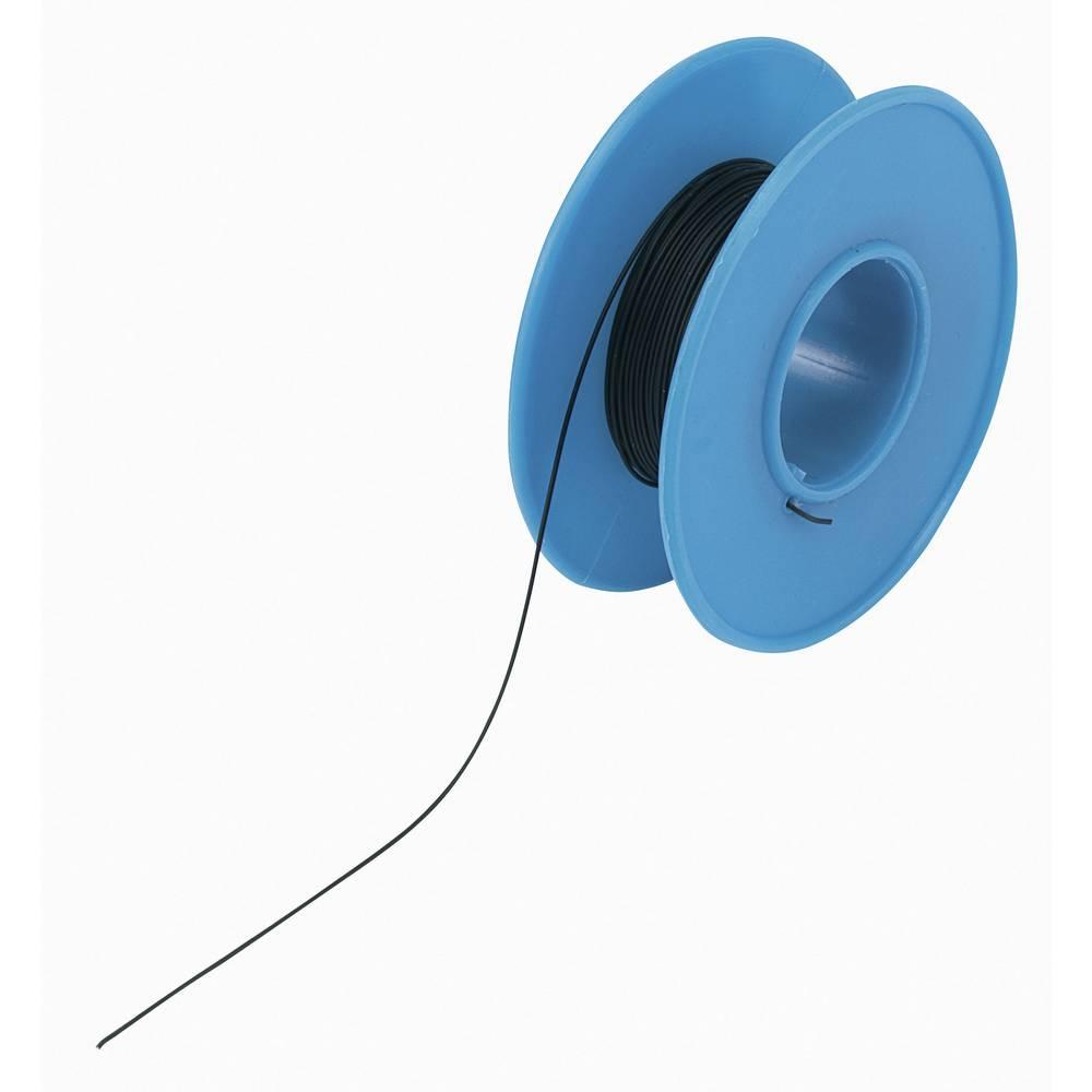 Vodnik za ovijanje Wire Wrap 1 x 0.01 mm črne barve Conrad Components 93014c381 15 m