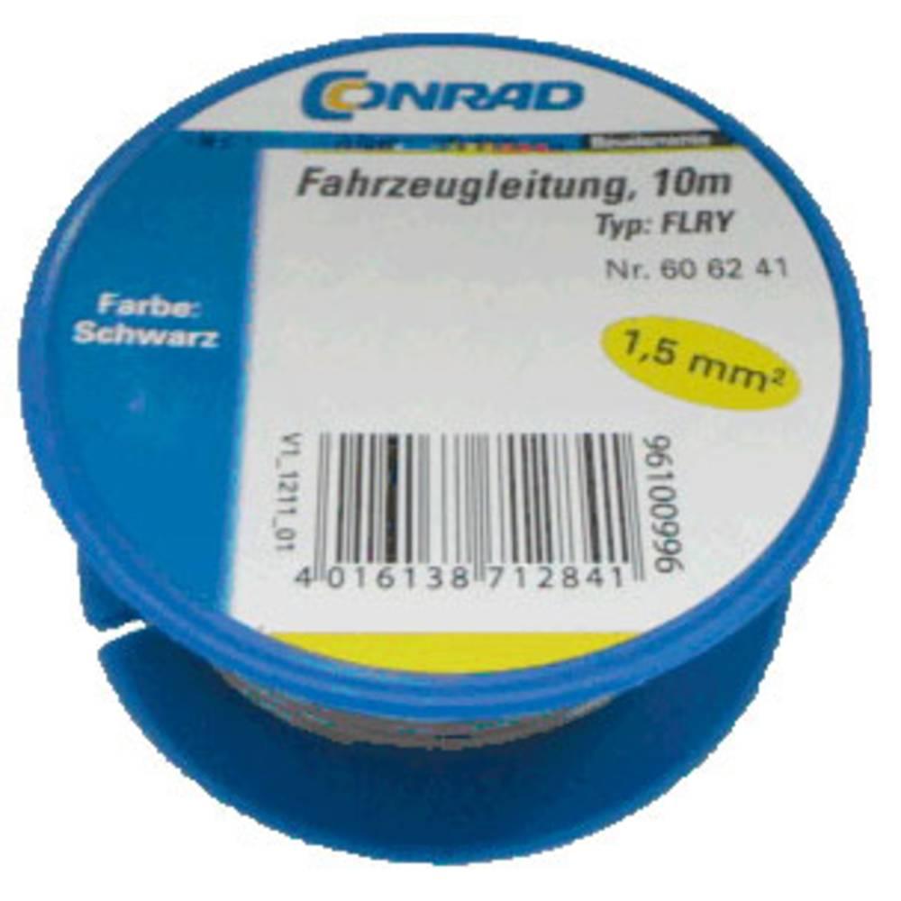 Automobilski kabel FLRY-B 1 x 1.50 mm crne boje Conrad Components 606241 10 m