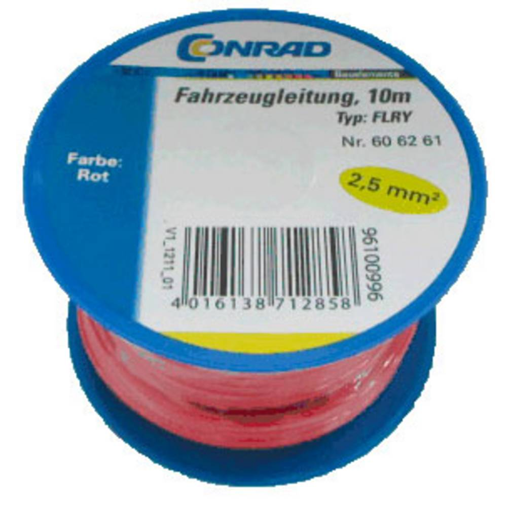 Automobilski kabel FLRY-B 1 x 2.50 mm crvene boje Conrad Components 606261 10 m