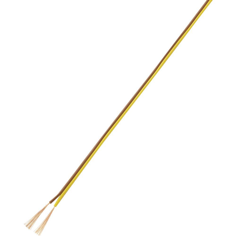 Prepleteni vod 93014c445 Conrad 2 x 0.14 mm, smeđa, žuta 50 m