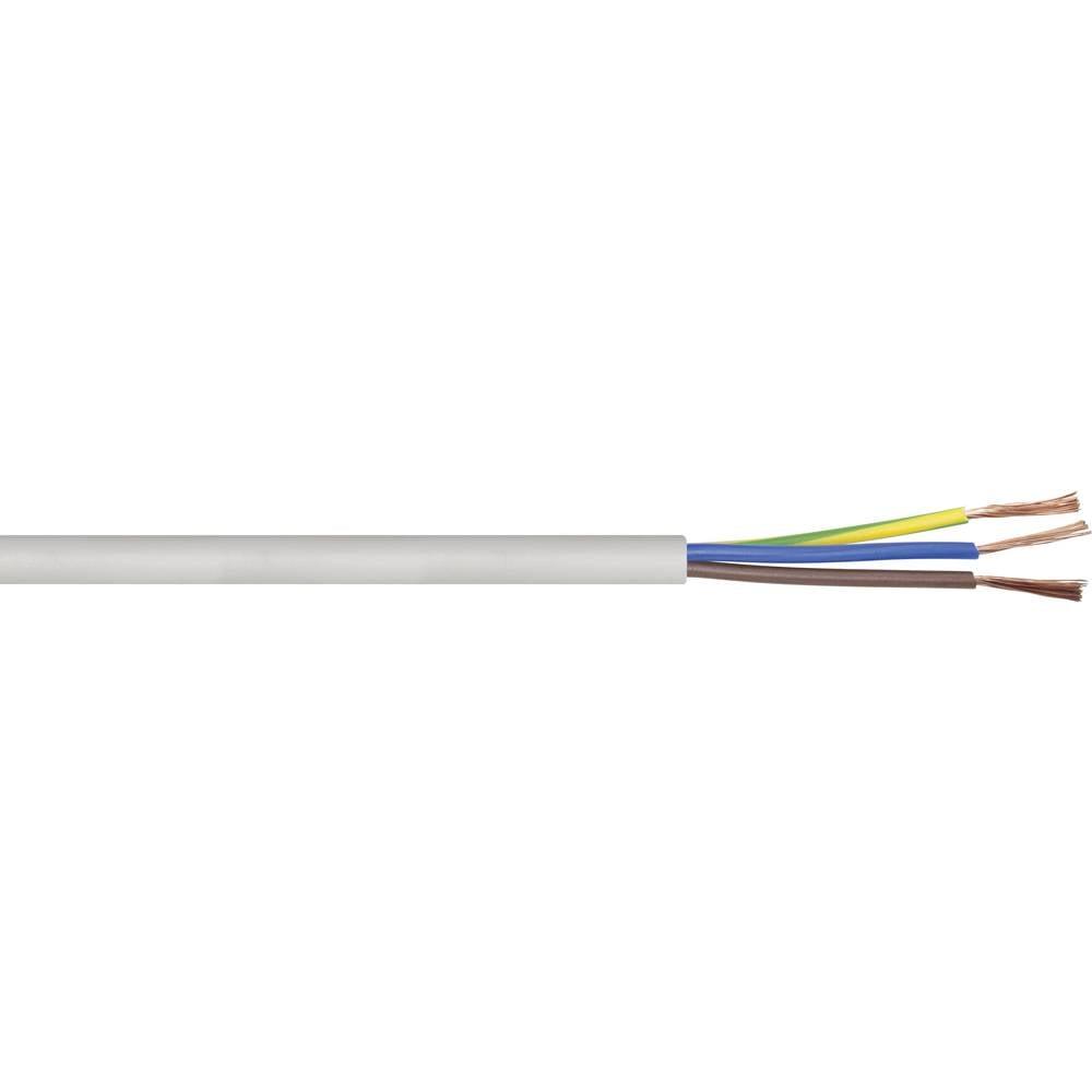 Gumirani vodnik H05VV-F 3 G 1.5 mm bele barve LappKabel 49900078 metrsko blago