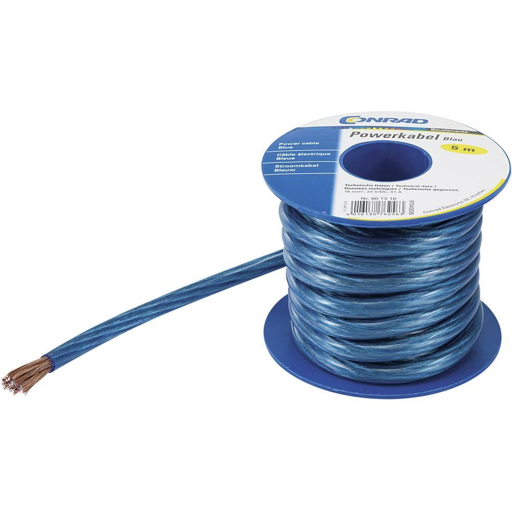 Ozemljitveni kabel (Power cable) 1 x 4 mm modre barve Conrad Components 93030c474 5 m
