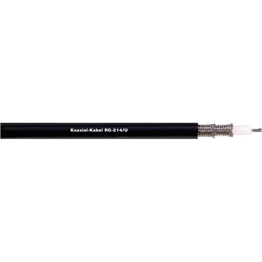Koaksjialni kabel, vanjski promjer: 5.50 mm RG223 /U 50 crne boje LappKabel 2170007 roba na metre