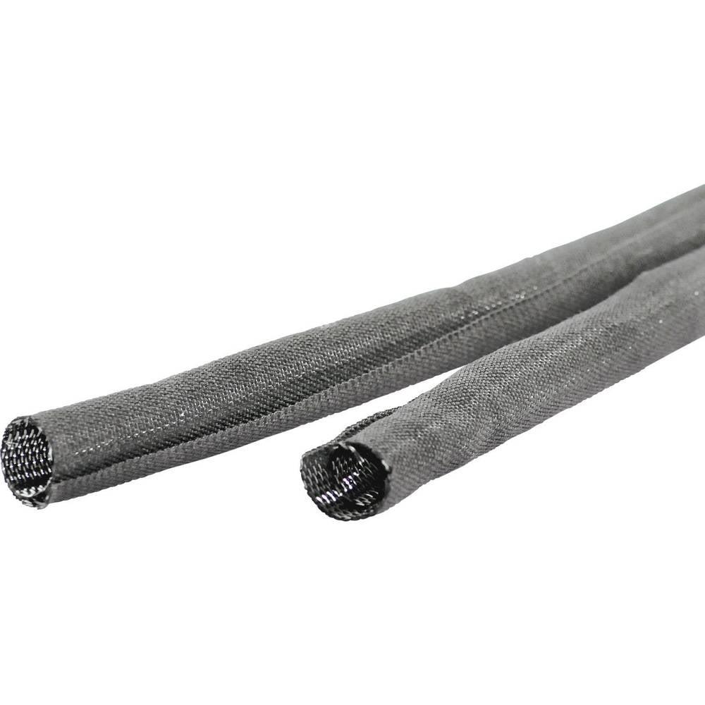 Pletena cev LappKabel Silvyn Snap, PET, samosprijemljiva, premer do: 25 mm, sive barve 61721280