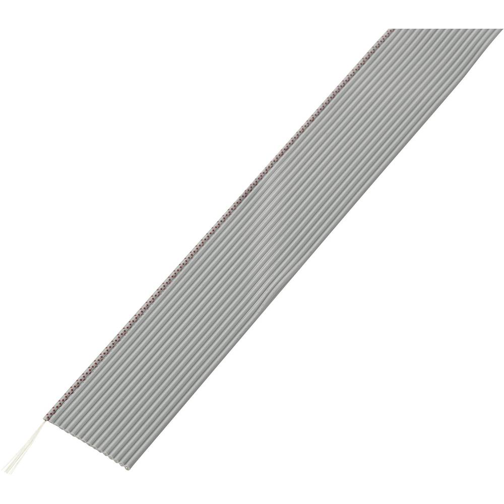 Ploščati kabel dimenzije: 1.27 mm 16 x 0.035 mm sive barve Conrad Components SH1998C200 30.5 m