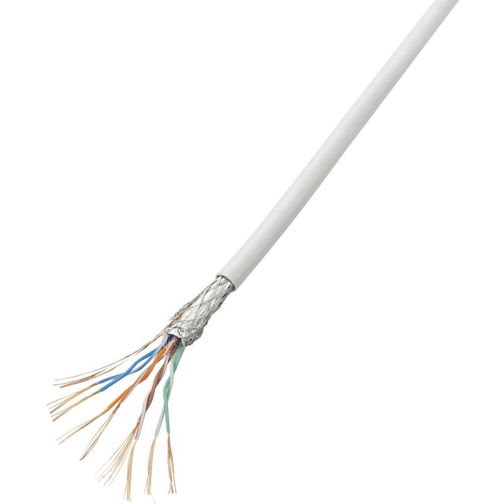 Omrežni kabel Conrad, CAT 5e,CCA (aluminij, prevlečen z bakrom), zapakiran, beli, 10 m SH1998C260