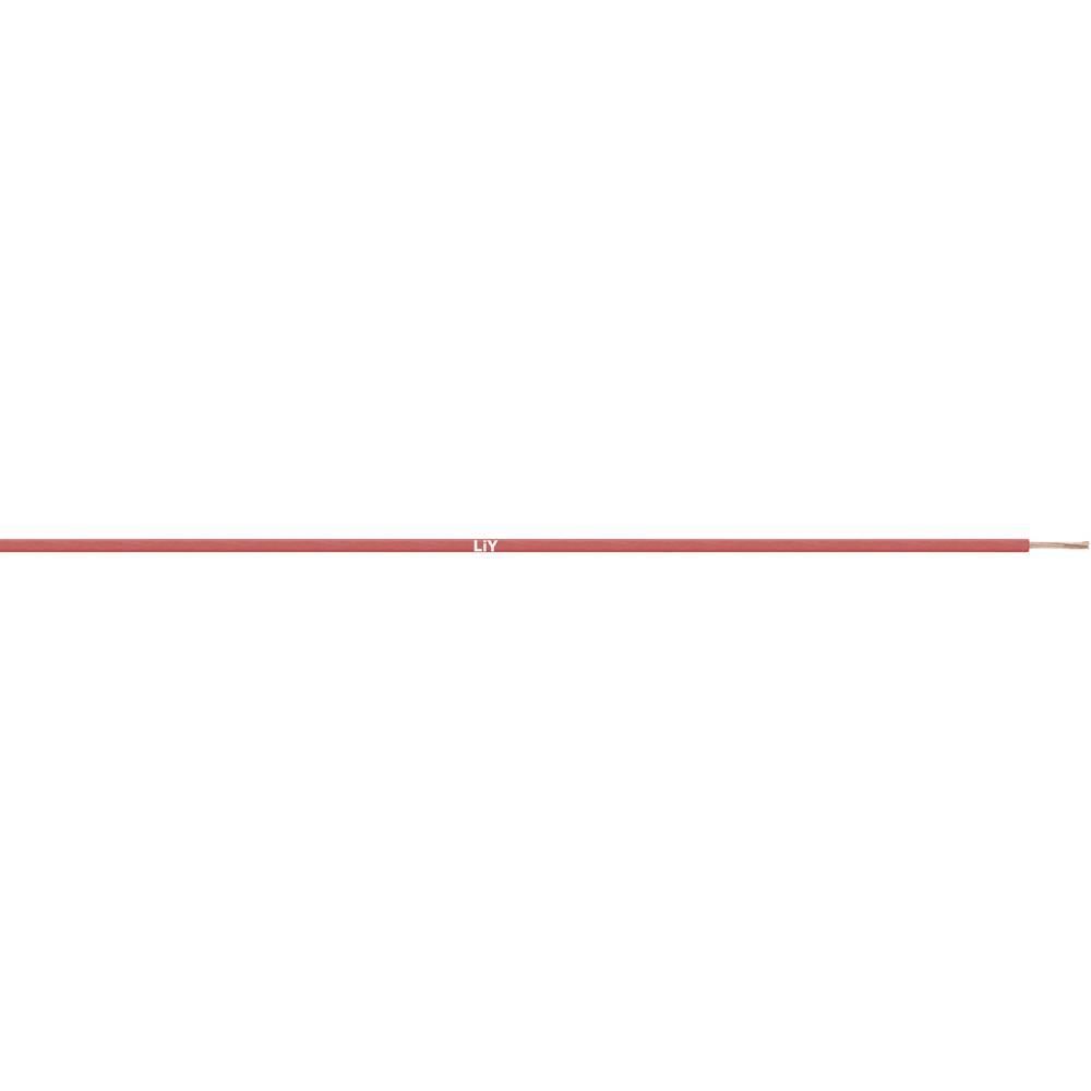 Finožični vodnik LiY 1 x 0.14 mm rdeče barve LappKabel 4125104S meterski