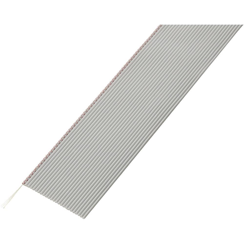 Ploščati kabel dimenzije: 1.27 mm 25 x 0.035 mm sive barve Conrad Components SH1998C203 30.5 m