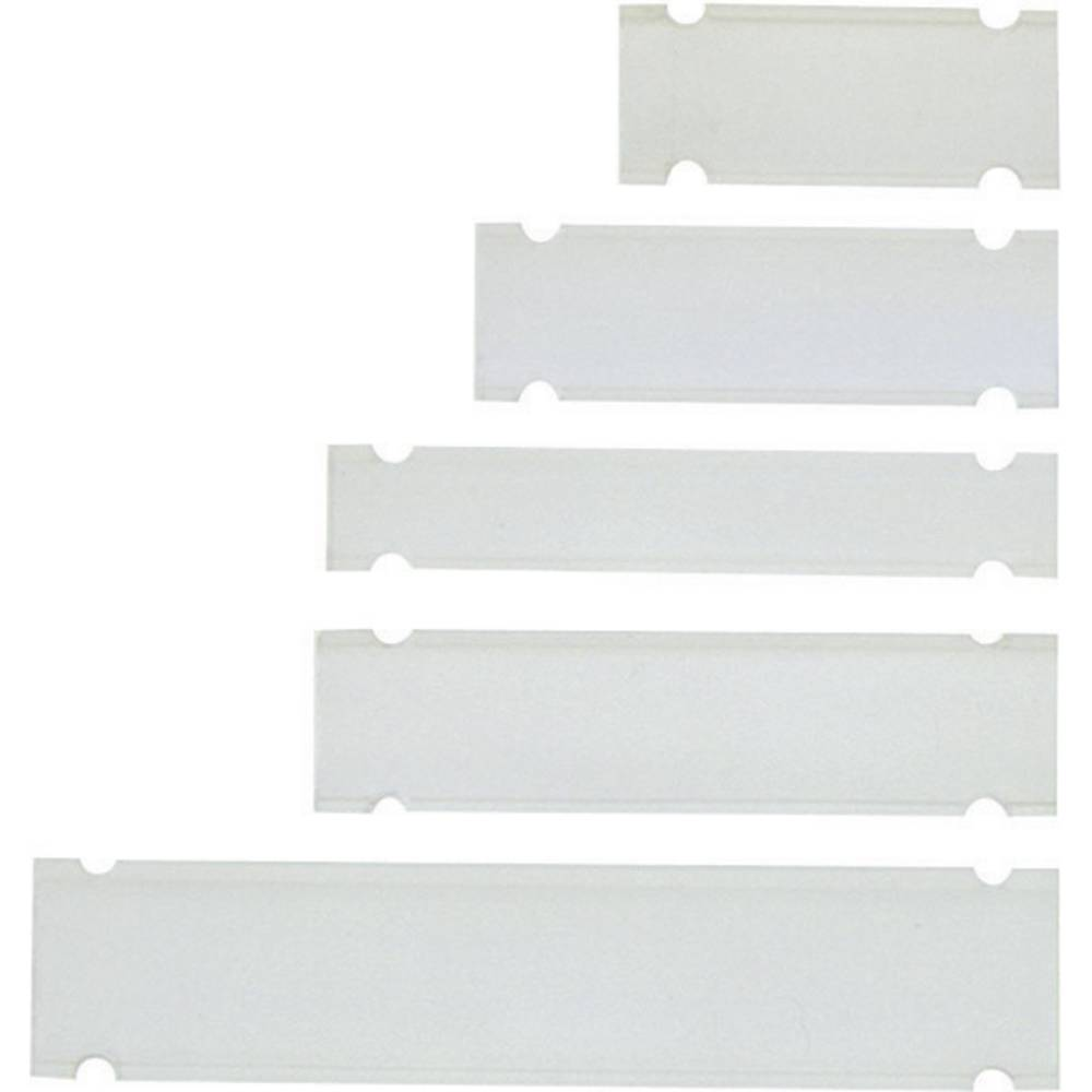 Nosilec za etikete z vezicami, montaža: z vezicami, površina: 28 x 9.50 mm, primeren za univerzalno uporabo, Einzeldrähte transp